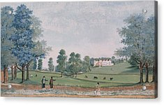 The Great House And Park At Chawton Acrylic Print by Adam Callander