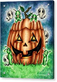 The Great Pumpkin Acrylic Print by Coriander  Shea