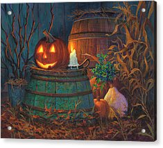 Acrylic Print featuring the painting The Great Pumpkin by Michael Humphries