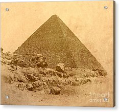 Acrylic Print featuring the photograph The Great Pyramid by Nigel Fletcher-Jones