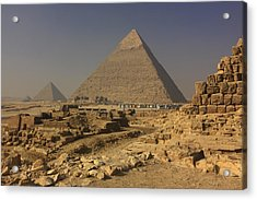 The Great Pyramids Of Giza Egypt  Acrylic Print by Ivan Pendjakov