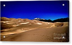 The Great Sand Dunes1 Acrylic Print by Claudette Bujold-Poirier