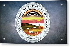 The Great Seal Of The State Of Kansas  Acrylic Print by Movie Poster Prints