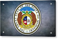 The Great Seal Of The State Of Missouri  Acrylic Print by Movie Poster Prints