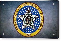 The Great Seal Of The State Of Oklahoma Acrylic Print by Movie Poster Prints