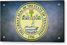 The Great Seal Of The State Of Tennessee Acrylic Print by Movie Poster Prints