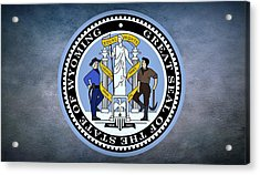 The Great Seal Of The State Of Wyoming Acrylic Print by Movie Poster Prints