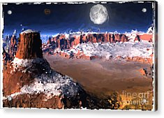The Great Southwest Digital Painting. Acrylic Print by Heinz G Mielke