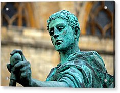 The Great Statue Acrylic Print by Chris Whittle