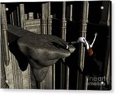 The Great Unknown - Surrealism Acrylic Print by Sipo Liimatainen