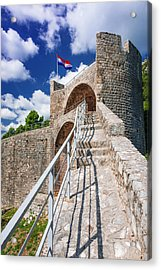 The Great Wall Above The City Center Acrylic Print by Russ Bishop