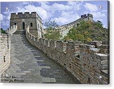 The Great Wall Of China At Mutianyu 1 Acrylic Print