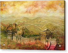 The Great Wall Of China Acrylic Print by Catf