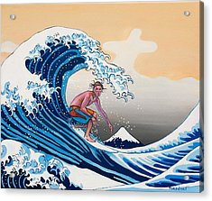 The Great Wave Amadeus Series Acrylic Print by Dominique Amendola