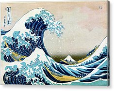 The Great Wave Off Kanagawa Acrylic Print by Library Of Congress/science Photo Library