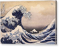 The Great Wave Off The Coast Of Kanagawa Acrylic Print by Philip Ralley