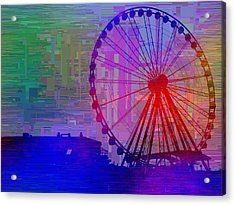 The Great  Wheel Cubed Acrylic Print by Tim Allen