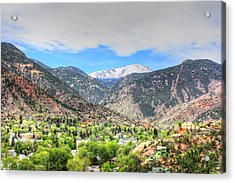 The Great White Shining Mountain Acrylic Print