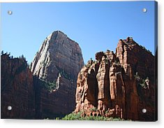 The Great White Throne In Zion National Park Acrylic Print