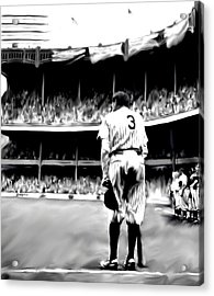 The Greatest Of All  Babe Ruth Acrylic Print