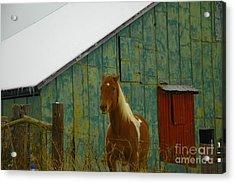 The Green Barn Acrylic Print