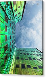 The Green Building Acrylic Print by Leon