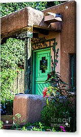 The Green Door Acrylic Print by Jim McCain