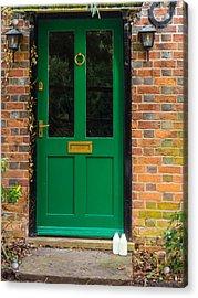 The Green Door Acrylic Print by Mark Llewellyn