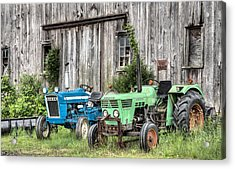 The Green Duetz Acrylic Print by JC Findley