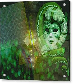 Acrylic Print featuring the digital art The Green Lady by Melissa Messick