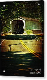 The Green Sergeants Covered Bridge Acrylic Print