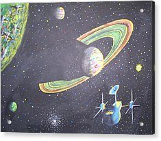 The Green Solar System Acrylic Print