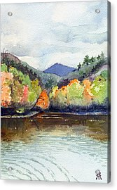 Acrylic Print featuring the painting The Greenbriar River by Katherine Miller