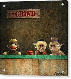 The Grind Acrylic Print by Will Bullas