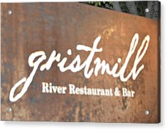 The Gristmill River Restaurant And Bar Acrylic Print by Shawn Hughes