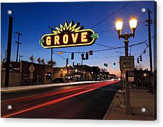 The Grove In Twilight Acrylic Print