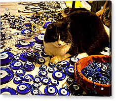 The Guard Of Evil Eye Beads Acrylic Print