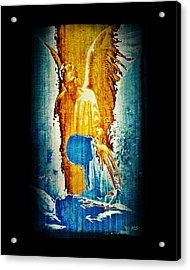 The Guardian Angel Acrylic Print by Absinthe Art By Michelle LeAnn Scott