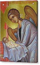 The Guardian Angel Soul Acrylic Print by Olga Krasanaki