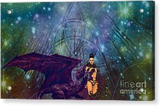 The Guardians Acrylic Print by Jessie Art
