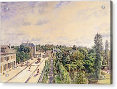 The Guest House At Sevres, C.1840 Wc On Paper Acrylic Print