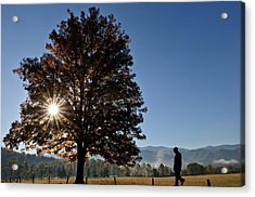 Acrylic Print featuring the photograph The Guiding Light In Cades Cove by Tyson and Kathy Smith