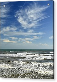 The Gulf Of Mexico From Galveston Acrylic Print