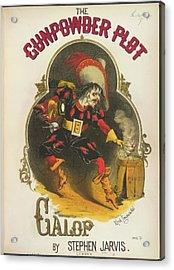 The Gunpowder Plot Galop Acrylic Print by British Library