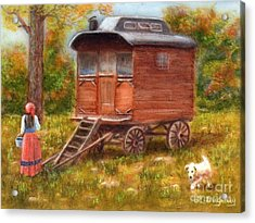 The Gypsy Caravan Acrylic Print