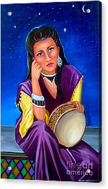 The Gypsy Acrylic Print