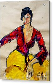 The Gypsy - Pia #2 - Figure Series Acrylic Print by Mona Edulesco