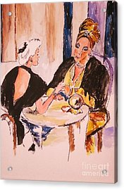 Acrylic Print featuring the painting The Gyspy by Helena Bebirian