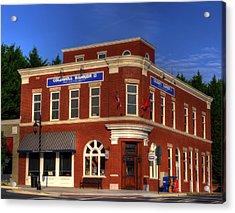 The Haight Building In Blue Ridge Georgia Acrylic Print