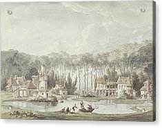 The Hameau, Petit Trianon, 1786 Wc Acrylic Print by Claude Louis Chatelet